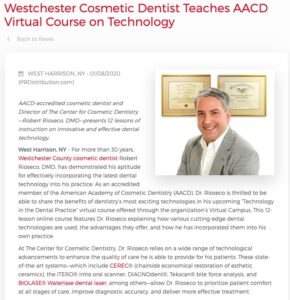 Robert Rioseco, DMD, teaches AACD Virtual course on technology in the dental practice